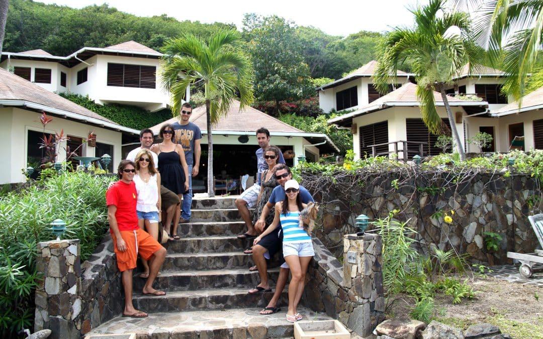 living in the virgin islands in a big tropical villa